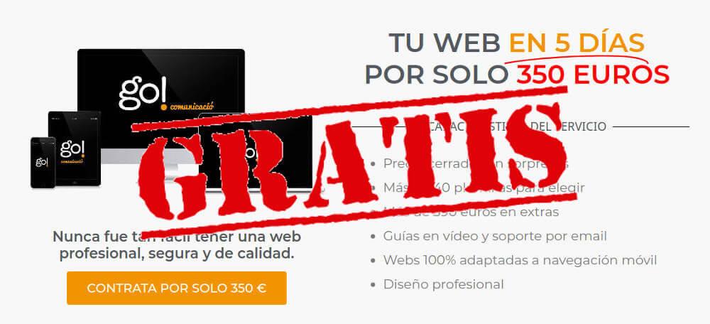 tu web en 5 días regalo go comunicacio diseño web en barcelona